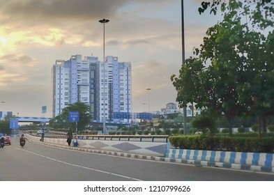 HOWRAH, WEST BENGAL , INDIA - JULY 8TH 2018 : Nabanna, building in Howrah, houses the State Secretariat of West Bengal. Office of the respected Chief Minister, Smt. Mamata Banerjee.