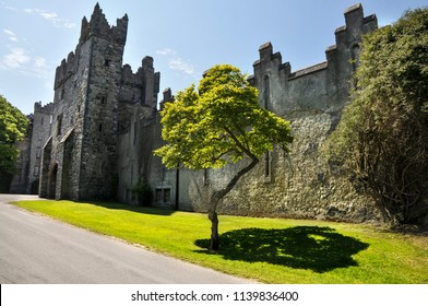 HOWTH .DUBLIN.IRELAND-June 09, 2018 :Old Castle in Howth