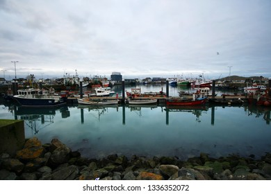 AT Howth - Ireland - On december 2018 - the little harbour of Howth in Dublin's bay