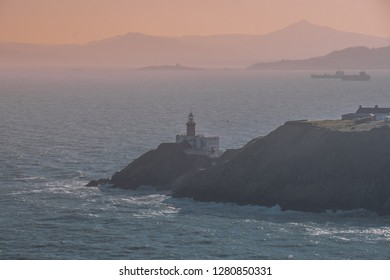Howth lighthouse during sunset, Ireland