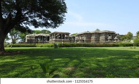 Hoysaleswara temple / Halebidu temple, Halebidu, Hassan District of Karnataka state, India. The temple was built in 12th-century rule of Hoysala Empire.