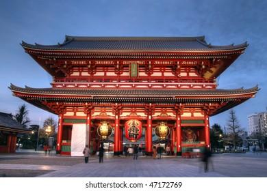 Hozo-mon Gate; Senso-ji, Asakusa, Tokyo, Japan (HDR image)