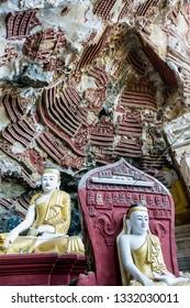Hpa An. Myanmar. 12/12/2016. Kaw Gon cave
