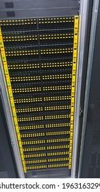 Hpe 3par storage in a rack noc - Shutterstock ID 1963163299