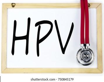 HPV sign on blackboard