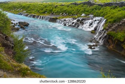 Hraunfossar Barnafoss, Iceland