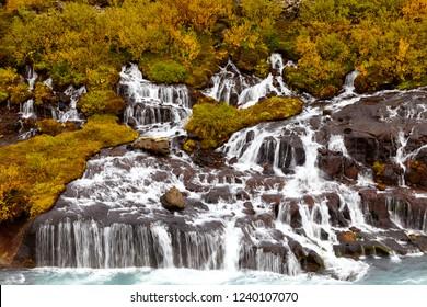 Hraunfossar Falls, Iceland