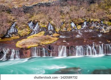 Hraunfossar waterfall at its very best