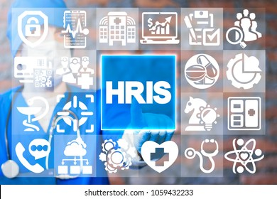 HRIS. Human Resources Information System Modern Medicine. Innovative Hospital HR concept.