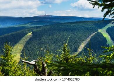 Hruby Jeseník is the highest mountain range in Moravia. The highest mountain is Praděd (1491 m above sea level) - Shutterstock ID 1744028780