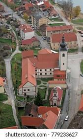 HRVATSKA KOSTAJNICA, CROATIA - NOVEMBER 07: Parish Church of Saint Nicholas in Hrvatska Kostajnica, Croatia on November 07, 2007.