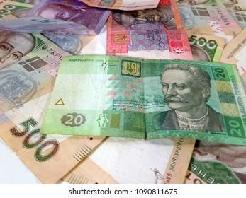 Hryvnia - cash of Ukraine (hrivnia, grivna) ukraine currency, money of Ukraine