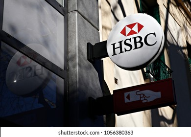 HSBC Bank Branch in Paris, France on Dec. 12, 2017.