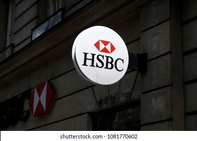 HSBC Bank Branch in Paris, France on May 1, 2018.