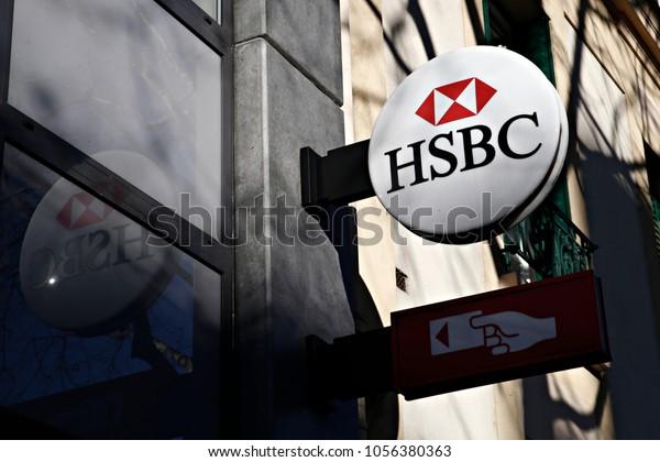 Hsbc Bank Branch Paris France On Stock Photo (Edit Now