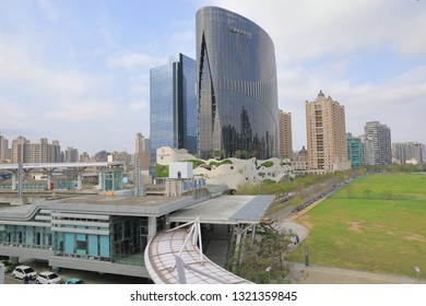 Hsinchu, Taiwan - February 23, 2019: The Lioujia Station which is connected to Taiwan High Speed Rail Hsinchu station