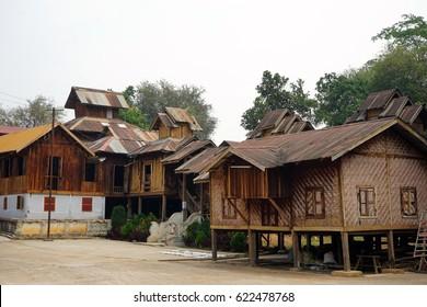HSIPAW, MYANMAR - CIRCA APRIL 2017 Maha Nanja Kantha Monastery
