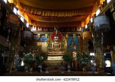 HSIPAW, MYANMAR - CIRCA APRIL 2017 Temple in Maha Nanja Kantha Monastery