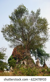 HSIPAW, MYANMAR - CIRCA APRIL 2017 Stupa in Maha Nanja Kantha Monastery