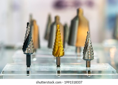 hss cone or conical step drill bit for sheet metal hole drilling manufacturing process metal work in industrial