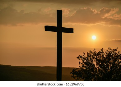 Hstorical cross on Erpel hill Germany