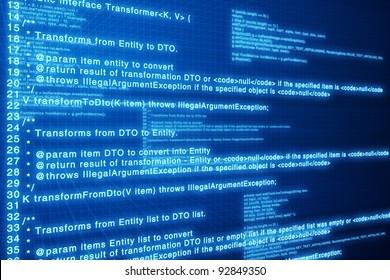 Html code blue screen.