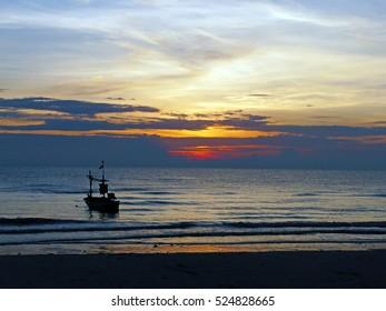 Hua Hin Beach in the morning