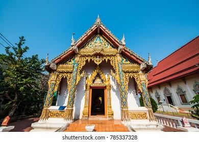 Hua Wiang Tai temple at Nan province, Thailand.