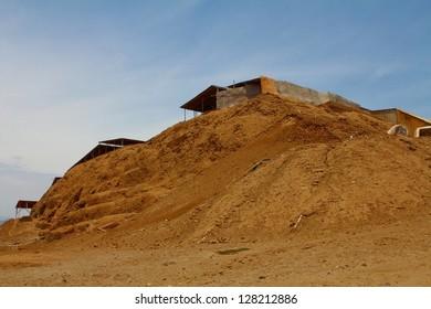 Huaca de la Luna, archaeological site in the Moche valley in Peru