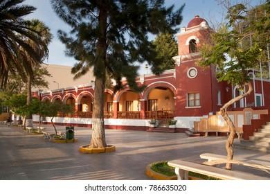 HUACACHINA, ICA, PERU: A park in Huacachina.