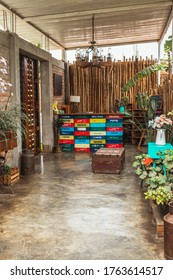 Huacachina-Ica-Peru - Aug 17 2019 - Reception at The Upcycled Hostel