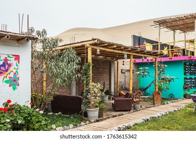 Huacachina-Ica-Peru - Aug 17 2019 - Resting area on The Upcycled Hostel