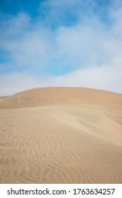 Huacachina-Ica-Peru - Aug 17 2019 - Sand dunes in Huacachina desert