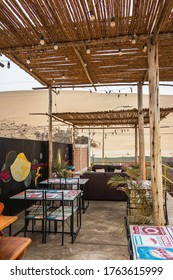 Huacachina-Ica-Peru - Aug 17 2019 - Sitting area on the rooftop off the cafeteria on The Upcycled Hostel