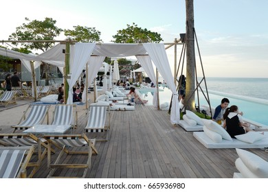 """Huahin , Thailand - June 12, 2017 : First opening """"Seen Space"""" beachfront mall in HuaHin"""
