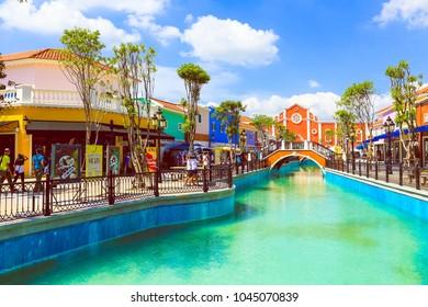 HUAHIN, THAILAND, NOVEMBER 2013: View image of The venezia building landmark tourist attraction at huahin,  Thailand.