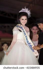 HUAHIN THAILAND-29APR,2016:The pageant miss huahin 2016,clothing Retro style on remembrance Day Hua Hin at huahin,prachaupkirikan thailand
