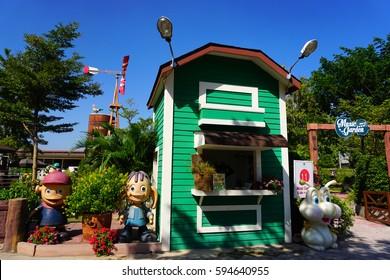 HUAHIN,THAILAND - January 7 : The venezia building landmark tourist attraction on January 7, 2017 in Huahin,Thailand