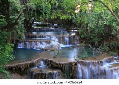 Huai Mae Kamin waterfall , kanchanaburi , Thailand.