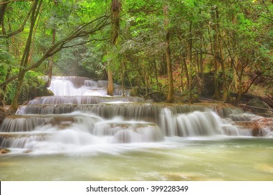 Huai Mae Khamin Waterfall - Kanchanaburi, Thailand