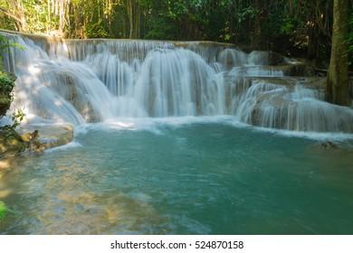 Huai Mae Khamin Waterfall at kanchanaburi in Thailand