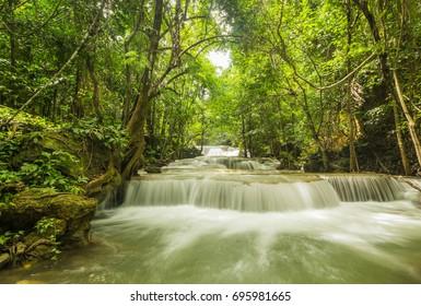 Huai Mae Khamin Waterfall, Kanchanaburi, Thailand