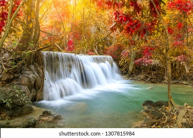 Huai Mae Khamin Waterfall, Khuean Srinagarindra National Park, Kanchanaburi, Thailand