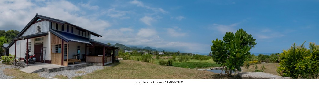 Hualien, AUG 13: Beautiful house in country side on AUG 13, 2017 at Hualien, Taiwan