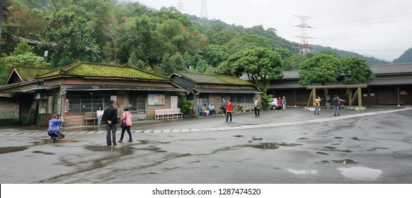 Hualien County,Taiwan- Dec.4, 2018 - Wanrong train station in the Hualien forest was once a Japanese logging town.