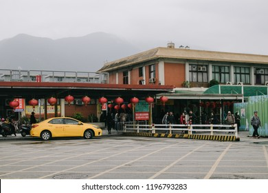 Hualien, Taiwan - April 7, 2018: Hualien Train Station is easily accessible from Taipei City, and is a common transfer station for visitors to Taitung County and the east coast.