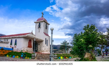 Huancayo, Junin, Perú; November - 4 - 2017: Cerrito de la Libertad Church