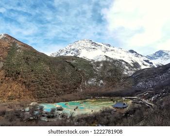 Huanglong mountain in China