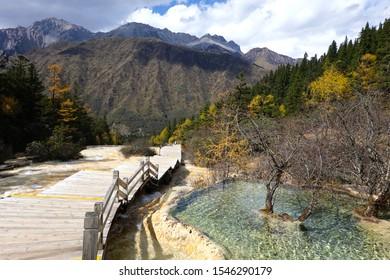 Huanglong National Park, Sichuan, China