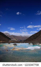 Huanglong scenic area sichuan terraces